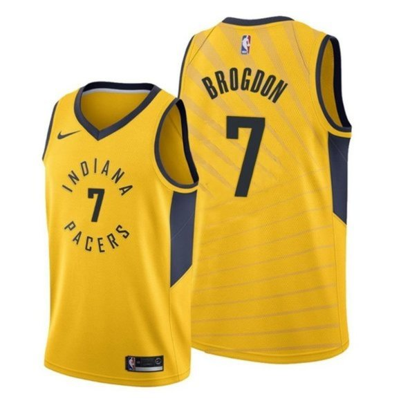 Indiana Pacers Malcolm Brogdon Gold Jersey